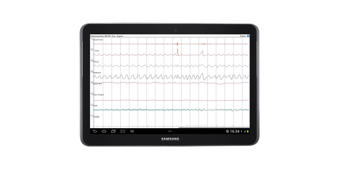 Transfer the measured data to your tablet, PC or smart phone for instant signal check – right at the patients bedside or mobile as a screenshot.